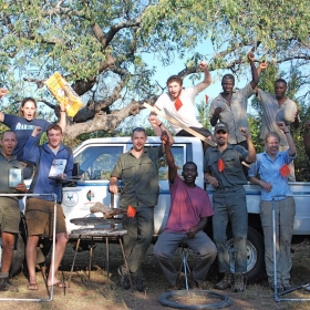 Kruger crew after a long season in the field - Viva!