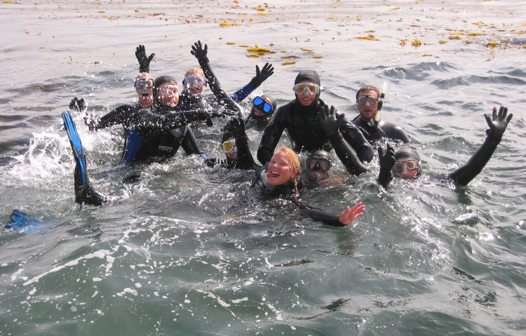 Happy Caselle lab divers