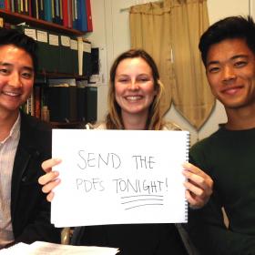 Aaron Yim, Emma Maul and Matt Kimura
