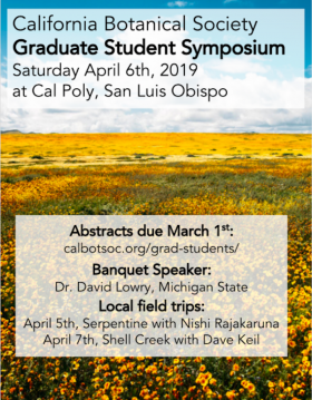 California Botanical Society Grad Symposium